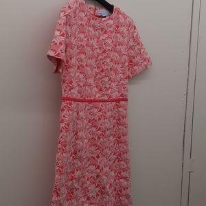 Draper James pink floral Shift dress sz 6